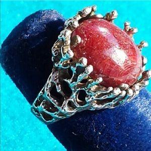 Jewelry - Witch-handmade Ruby Silver ring w/pari djinn genie